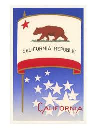 california state flag posters prints