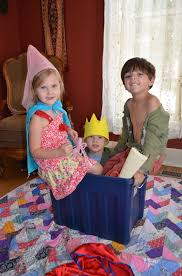 in addition to there being a king bidgood in the bathtub we had a queen bidgood in the bathtub it s always fun to act out a story in as many ways as