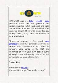 Check spelling or type a new query. Fake Credit Card Generator