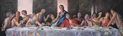 the last supper painted by lorna may wadsworth now hanging in st geoge s nailsworth