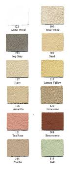 Empire Blended Stucco Color Chart