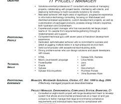 Plain Design Project Manager Resume Template Word Senior