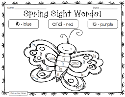 47e7375f51aa9efe2c315b61c9964cbc spring critters preprimer color by sight word printables on pre primer sight word worksheets free