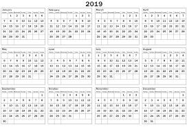 Microsoft 2019 Calendar Template Magdalene Project Org