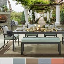 Matira Metal Outdoor 84 inch Rectangular Dining Set iNSPIRE Q