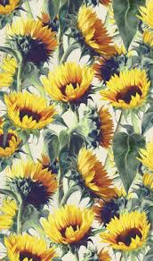 Sunflower Pattern Adorable Sunflowers Forever By Micklyn Available On Wallpaper Gift Wrap