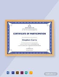 Certificate Of Participation Templates 12 Free Participation Certificate Templates Word Psd