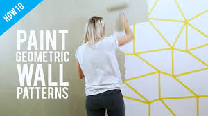 Small Picture DIY painted geometric wall decor YouTube