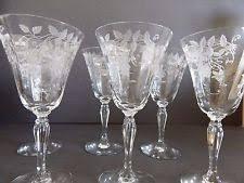 Fostoria Glass Patterns Gorgeous Fostoria Cynthia Water Goblet 48 4848 Tall Cut 4885 Stem 604848 EBay