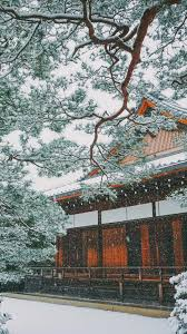 Winter Snowing In Japan Asian Or Oriental Houses And