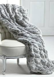 grey throw rug frosted grey mink faux fur couture throw x grey fur throw rug grey