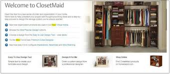 There is an easy-to-use Design Tool or you can have ClosetMaid design your  closet for ...