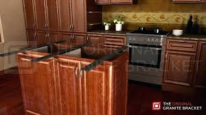 metal countertop supports kitchen island support bracket double sided island bracket by the original granite bracket