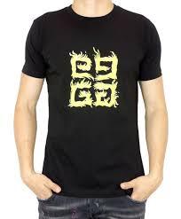 Givenchy Men S Size Chart Givenchy Yellow Logo Givenchy Mens T Shirt Black Size Xl