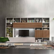 Modern Italian free standing Tv unit with shelves or library, Italian  custom made living room