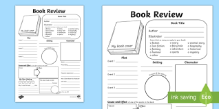 Book Report Template In Depth Book Review Writing Template Reading Book Review