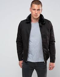 schott evans padded harrington detatchable faux fur collar black men jacket schott leather jackets schott glass tubing fast worldwide delivery