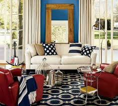 red white and blue wall decor
