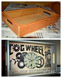 inspiration here s a before and after of a wooden tray