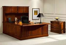 u shaped office furniture great u shaped executive office desk furniture with hutch plus wooden chest of drawers with black accent desk lamp l shaped desk