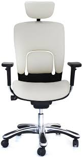 office chair genuine leather white. white ergolux genuine leather highback executive office chair front view larger s