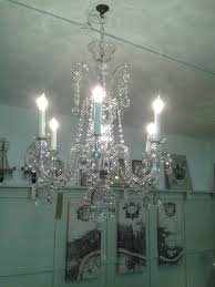pair of 1960s czech glass chandeliers th137