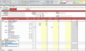 construction estimate sample construction estimate spreadsheet