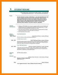 10+ Student Cv Format Pdf | New Tech Timeline