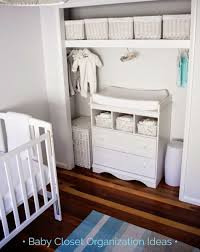 Baby closet organization ideas - love the changing table in the nursery  closet