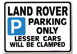 land rover car parking sign gift for disery tdi 110 90 models size large 205 x 270mm