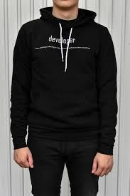 Black Hoodie With Design Black Developer Hoodie Made For A Developer Hoodies