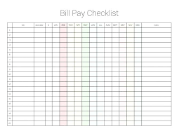 Monthly Payment Sheet Payment Sheet Template