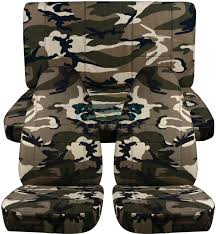 jeep wrangler tan and beige camo seat covers