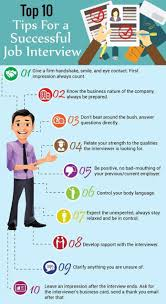 How To Be Successful In A Job Interview Infographic Infographic Top 10 Tips For A Successful Job