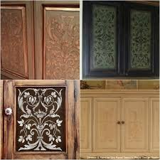 cabinet door design. Unique Cabinet 20 DIY Cabinet Door Makeovers And Painting Ideas With Furniture Stencils  From Royal Design Studio Throughout T