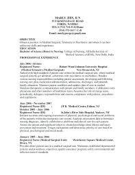 Nice Ideas Medical Surgical Nurse Resume Registered Nurse Resume