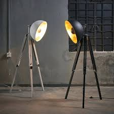 industrial contemporary lighting. Contemporary Floor Lighting Industrial Lamp Tripod 3 Light Pole  Up Lamps N