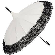 Victorian Parasols, Umbrella   Lace Parosol Tinksky Pagoda Umbrella Anti-Uv  Parasol Sunproof Lace