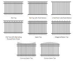 metal fence styles. Available Fence Styles, Virginia Fencing Products Metal Styles M