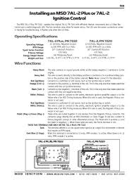 msd ignition wiring diagrams msd 7a l and 7a l plus ignition installation instructions · msd 7al 2