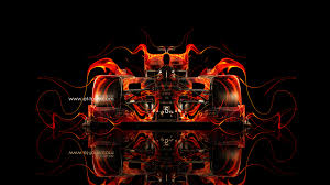 f1 ferrari front fire abstract car