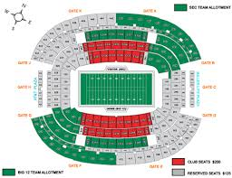 Cotton Bowl Stadium Seating Chart Rows Cotton Bowl Seating Chart