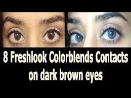 Freshlook Color Chart For Dark Eyes 8 Freshlook Colorblends Contacts On Dark Brown Eyes