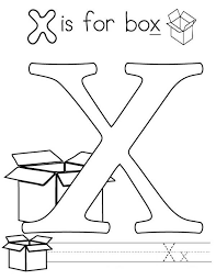 Small Picture Letter X Coloring Page for Kids Bulk Color