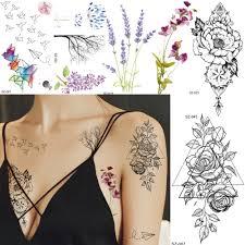 Akvarel Papírové Letadlo Dočasné Tetování Samolepky ženy Tělo Umění