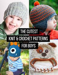Childrens Crochet Hat Patterns Magnificent Crochet And Knit Hat Patterns For Boys Andrea's Notebook