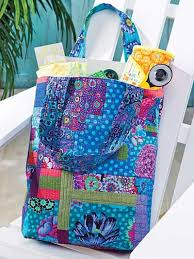 189 best Quilted Handbags images on Pinterest | Bag, Cinnamon and ... & QAYG - Quilt-As-You-Go Tote Bag Pattern + Tips for Pressing Adamdwight.com