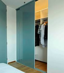 3 x 800 series semi frameless wardrobe door with sneaky mist seratone infill and matching tracks
