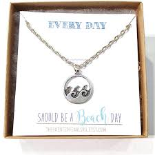 personalized wave necklace for women silver wave necklace ocean wave necklace beach wave necklace