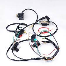 atv harness full kick electric start wiring harness loom 50 110cc 125cc atv quad dirt bike